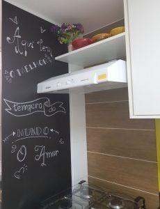 cozinha decorada com depurador